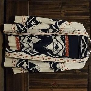 {Aztec Cardigan Sweater}